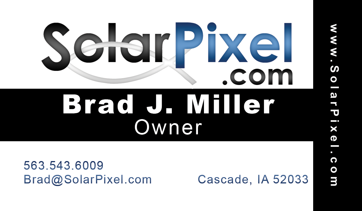 Solar Pixel - Brad Miller Business Card Image