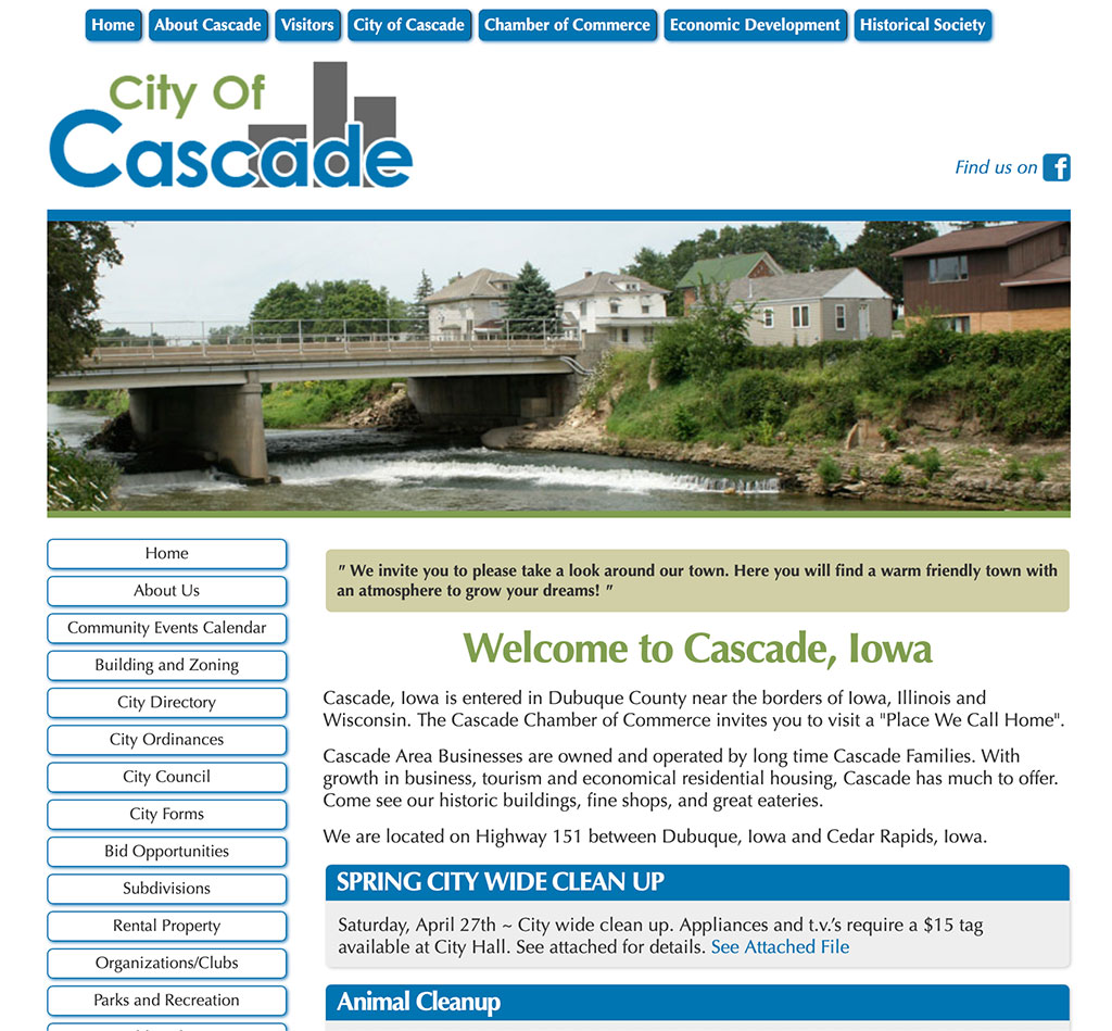 City of Cascade Image